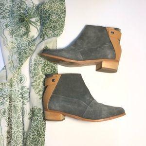 Joe's Becca Suede Wood Heel Ankle Booties Boots